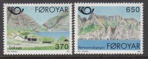 Faroe Islands 226-227 MNH VF