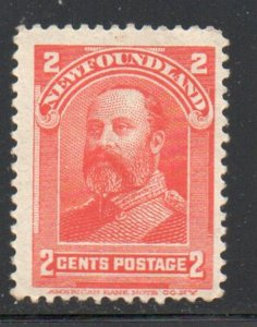 Newfoundland Sc 82 1898 2c Prince of Wales stamp mint NH