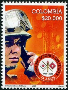HERRICKSTAMP NEW ISSUES COLOMBIA Military Communication