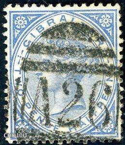 Gibraltar 1886 2½d SG 11 Used GIBRALTAR A26 POSTMARK (003266)