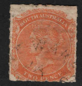 South Australia Scott 54 rouletted Used orange red  color