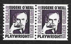 #1305C 1 Dollar Eugene O'Neill, Coil Pair mint OG NH EGRADED XF 92 XXF