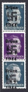 RUSSIA N23, N25 ZUSAMMEN GERMANY OCC BRÜNN OVERPRINT OG NH U/M FVF BEAUTIFUL GUM