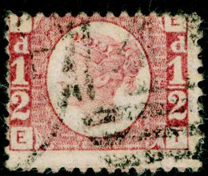 SG48, ½d rose-red PLATE 14, USED. Cat £22. EI