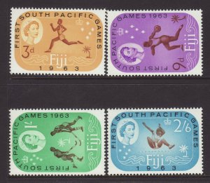 1963 Fiji South Pacific Games Set Mounted Mint SG329/332