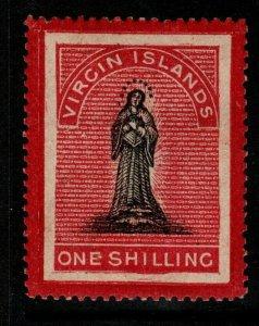 VIRGIN ISLANDS SG18 1867 1/= BLACK & ROSE-CARMINE(WHITE PAPER) HEAVY MTD MINT