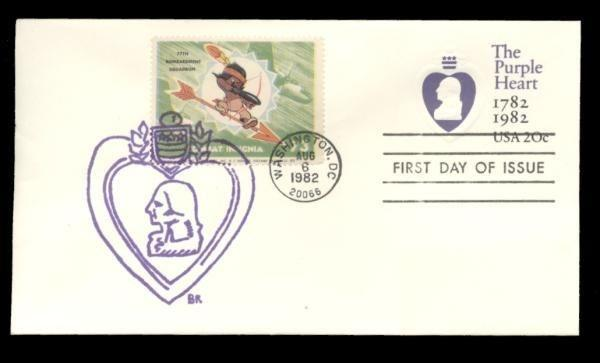 77th Bombardment Squadron Poster Stamp on Purple Heart #U603 FDC