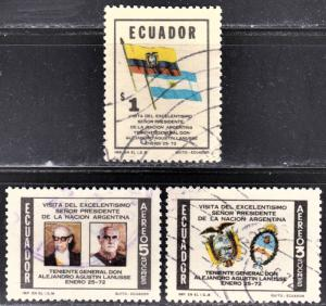 Ecuador Scott 847, C491-492  complete set  F to VF used.