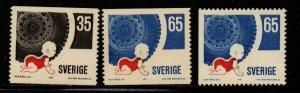 Sweden Sc 896-98 1971 Traffic Safety stamp set mint NH