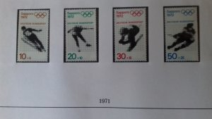 Germany 1971 Summer & Winter Olympic Games - Sapporo,Japan & Munich,Germany Mint