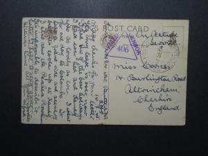 India 1945 Forces In Ceylon Card / RAF APO / Field Censor - Z12375