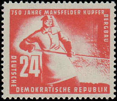 1950 German Democratic Republic #68-69, Complete Set, Hinged