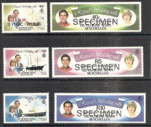 Seychelles-Zil Elwannyen Sesel   23-28 MNH Royal Wedding ...