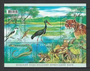 Ukraine MNH S/S Birds Fauna Fish  2006