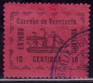 Venezuela 1903, Local Stamp for Guayana - Steamship Banrigh, 10c, used