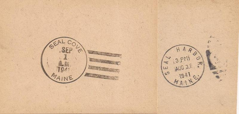 Maine: Facing Slips; Seal Cove & Seal Harbor 8/31/1941 read!