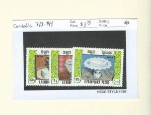Cambodia  742-744  MNH