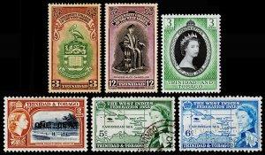 Trinidad & Tobago Scott 70-71, 84, 85, 86-87 (1951-58) Mint/Used H VF M