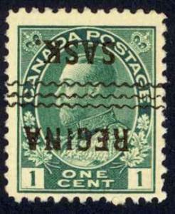 Canada Precancel Sc# 1-104-I (Regina) MNH 1911-1931 1¢ KGV Admirals