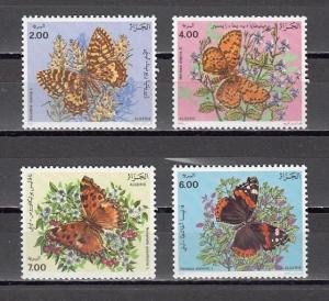 Algeria, Scott cat. 945-948. Various Butterflies issue.