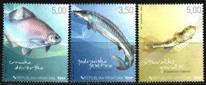 Croatia. 2009. 911-13. Fish, fauna. MVLH.