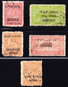 India Travancore-Cochin Scott  4, O12-15  F to VF used.