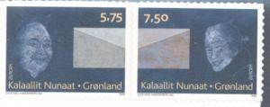 Greenland Sc 513-14 2008 Europa self adhesive stamp set mint NH