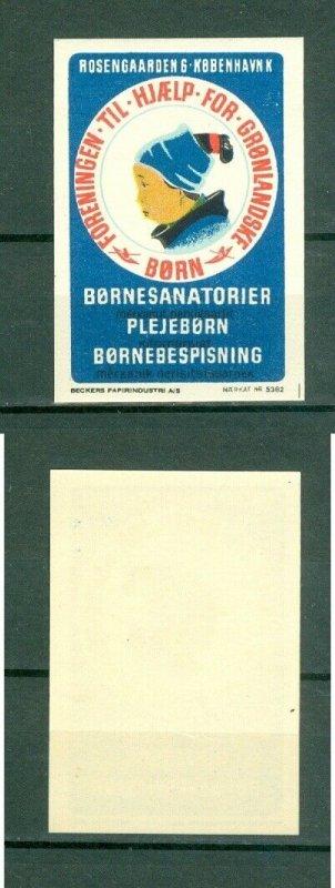 Greenland. 1950 Poster Stamp MNH. Aid To Children Kayak