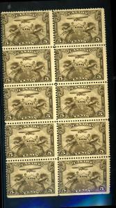 Canada #C1 MINT Block of 10 Fine OG NH Cat $275