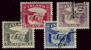 Iceland SC#170-173 Used F-VF...Worth a close look!!