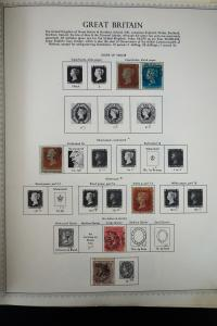 Great Britain 1800's to 1980's Stamp Collection