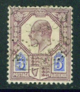 Great Britain Scott 134 KEVII 1902 Perfin stamp CV $22.