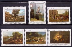 1979  Cuba Stamps Paintings in the National Museum of Art  Complete Set MNH