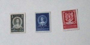 Croatia - 56-58, MNH Set. People. SCV - $1.30