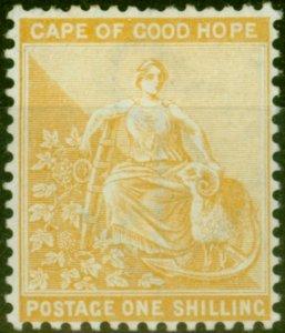 Cape of Good Hope 1896 1s Yellow-Ochre SG67 Fine Mtd Mint