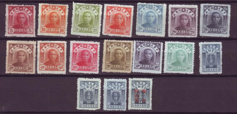 J16222 JLstamps  china mh no gum northeastern provinces #