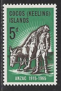 Cocos Islands Scott # 7, mint nh