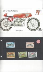 Isle of Man 335-9 Tourist Trophy 1987  MNH Presentation Folder