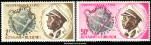 Burundi Scott 45-46 Mint never hinged.
