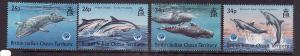 BIOT-Sc#203-6-unused NH set-Dolphins & Whales-1998-Marine Life-