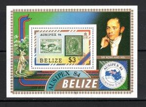 Belize SC731 SS AustraliaAusopes-Br.Honduro-w/SirRowlandHill MNH 1984