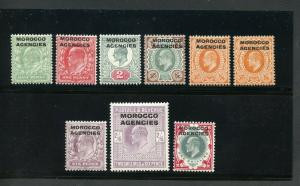 GREAT BRITAIN MOROCCO AGENCIES ED VII  SCOTT#201/8 208a  SG#31/38  MINT HINGED