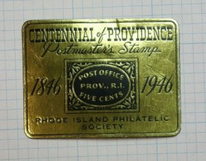 1946 Rhode Isalnd Philatelic Society Postmaster Stamp Souvenir Ad