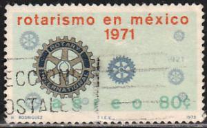 MEXICO C401, Rotary Internat. in Mexico, 50th Anniversary. USED. F-VF. (676)