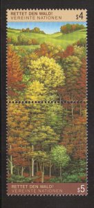 United Nations Vienna  #80-81  MNH  1988  survival of the forests pair