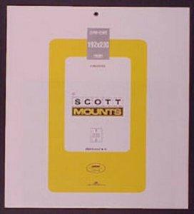 Scott/Prinz Pre-Cut Souvenir Sheets Small Panes Stamp Mounts 192x230 #1017 Black