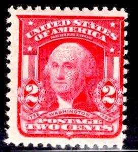 US Stamp #319F 2c Carmine Washington Type II MINT Hinged SCV $10.00