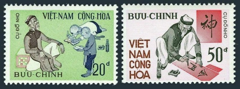 Viet Nam South 426-427,MNH.Michel 504-505. Ancient letter writing art,1972.