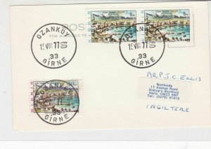 North Cyprus Turkish 1977 Ozankoy Cancel Stamps Card R16818
