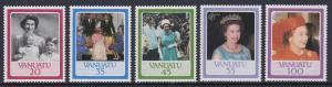 414-18 Vanuatu 1986 QEII Birthday MNH